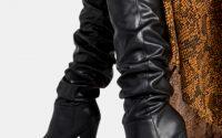 Czarne kozaki za kolano Ayana