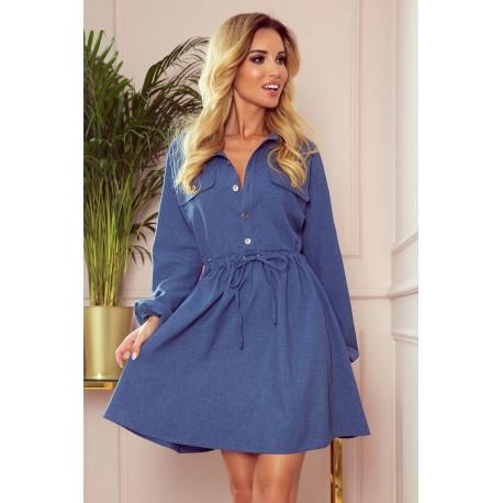 sukienka koszulowa niebieska