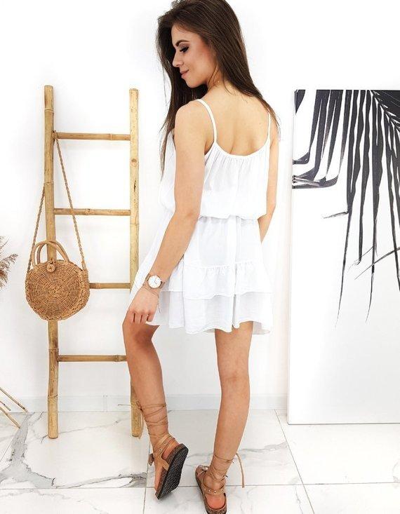 sukienka biała tie strap dress