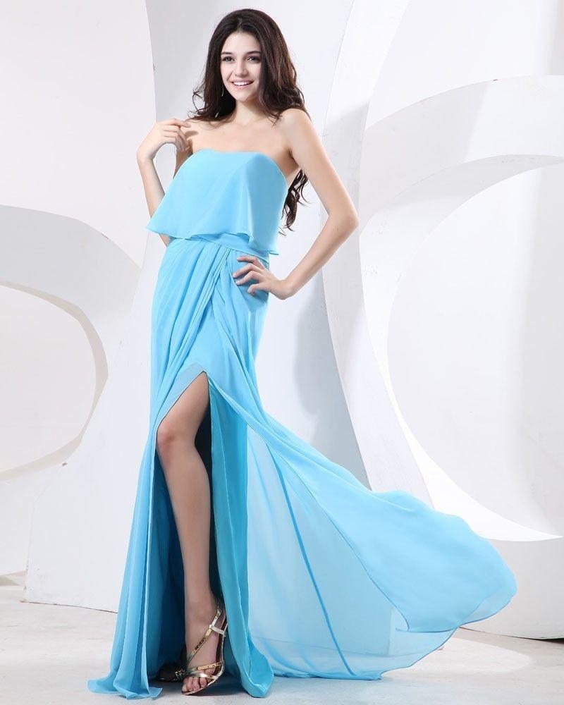 długa sukienka błękitna